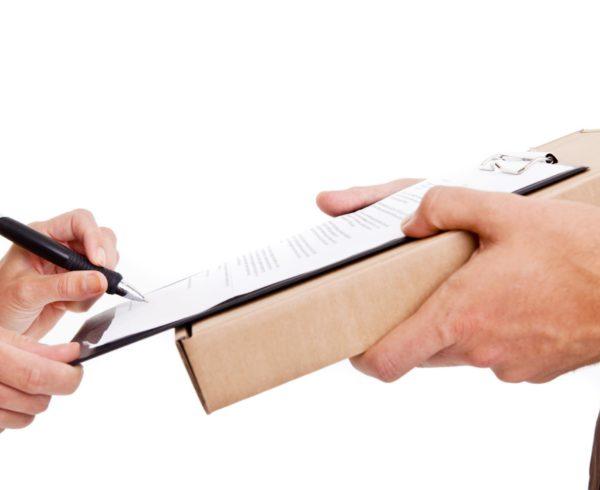 entrega certificada de mercancía