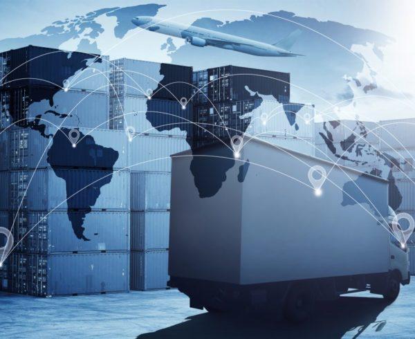 mapa de logística internacional
