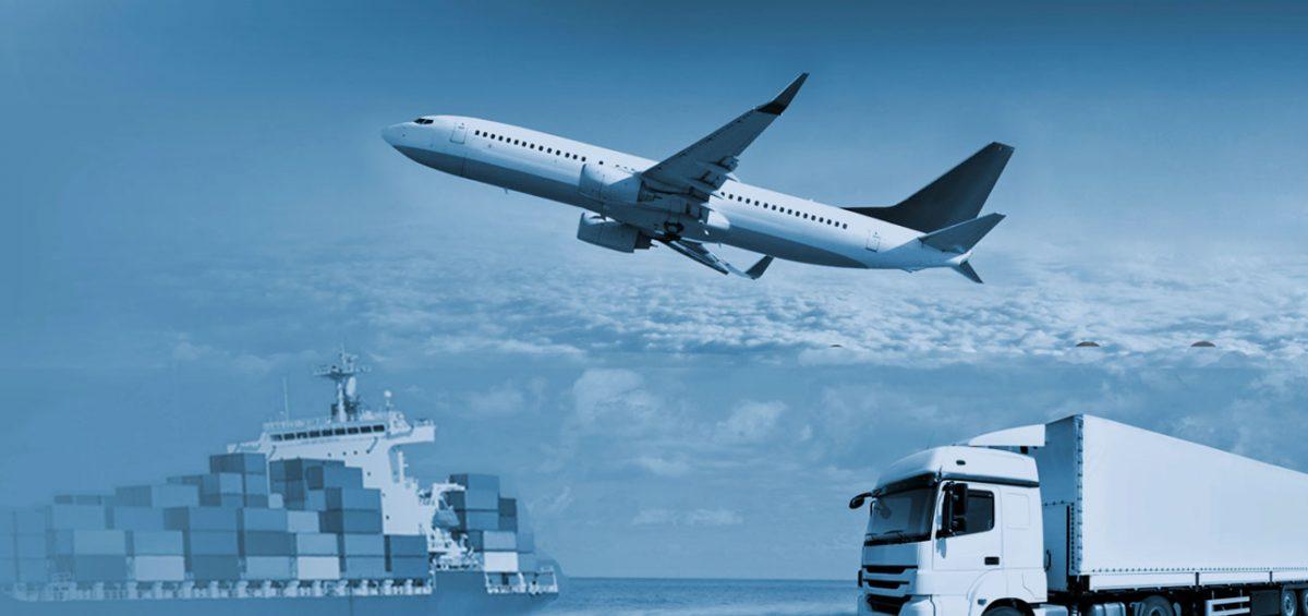avión, barco y camión; componentes del 3pl