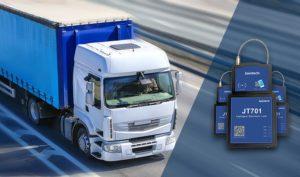 camión con sensor de seguridad