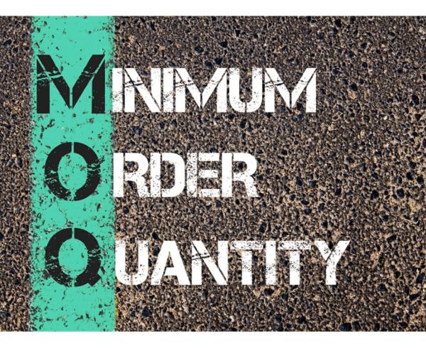 cantidad mínima de pedido (MOQ)